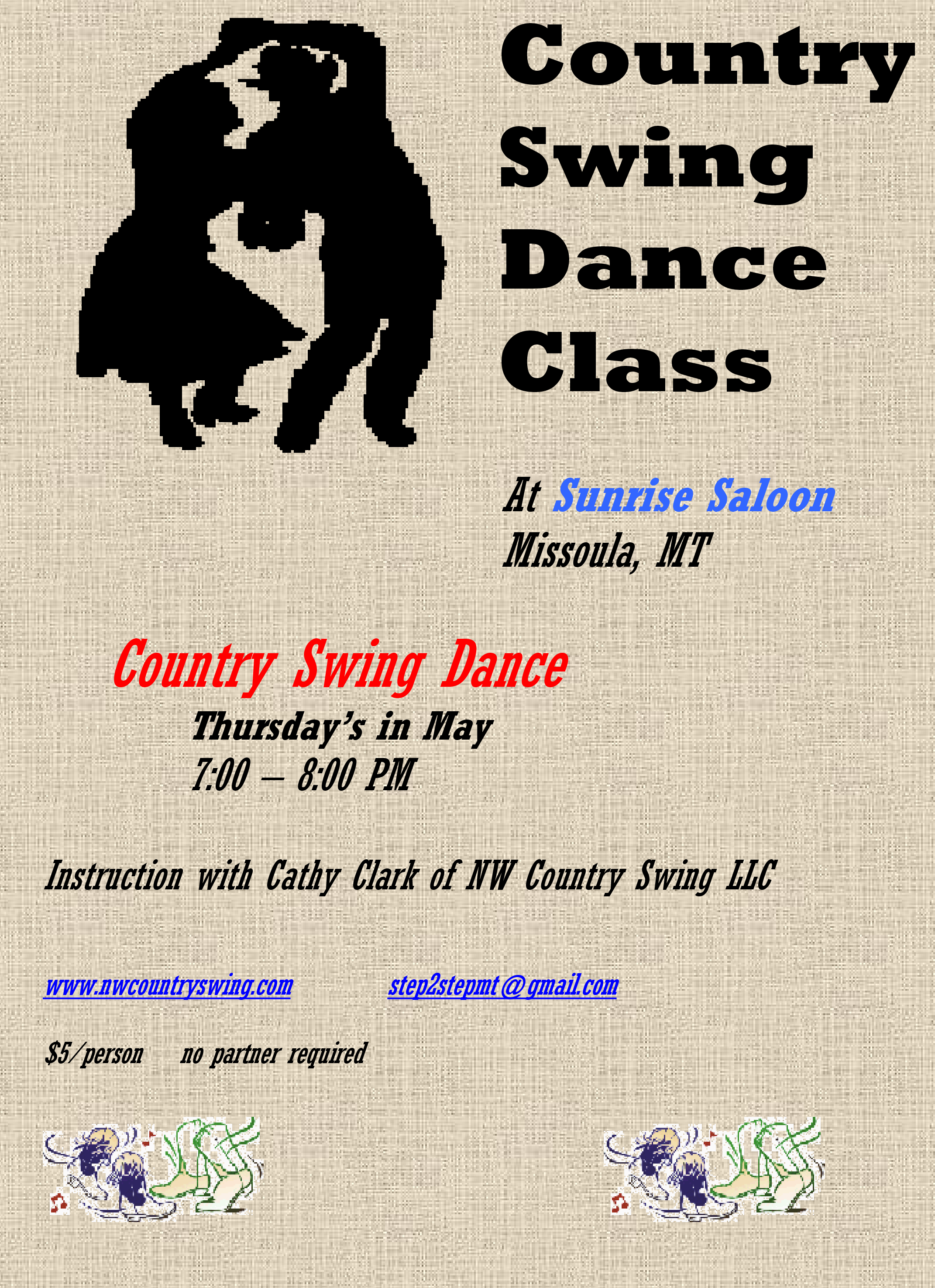 COUNTRY TWO STEP DANCE CLASSES